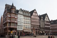 Quadrado de cidade de Francoforte Fotos de Stock Royalty Free