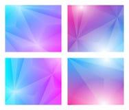 4 em 1 fundo geométrico de Poligon ilustração stock