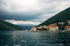 Em Herceg Novi a tempestade começa Foto de Stock Royalty Free