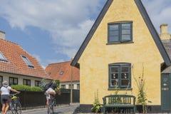 Em julho de 2018 - Dragor: uma aldeia piscatória velha perto de Copenhaga imagens de stock royalty free