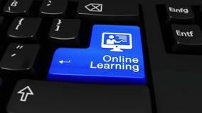 57 Em linha aprendendo em volta do movimento no botão do teclado de computador ilustração royalty free