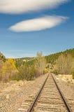 Em linha reta à curvatura nas trilhas Imagem de Stock