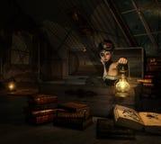 Em meu sótão, 3d CG ilustração do vetor