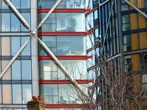 Em minha janela a cidade Fotografia de Stock Royalty Free