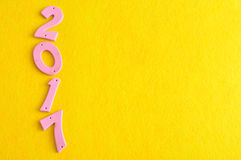 2017 em números cor-de-rosa Foto de Stock Royalty Free