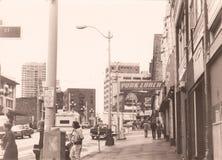Em 1982 nas ruas de Seattle, estado de Washington, EUA Imagens de Stock Royalty Free