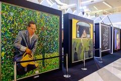 Em nosso evento eterno da memória, foto atual do rei Rama 9 por Aree Imagens de Stock