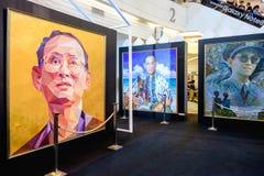 Em nosso evento eterno da memória, foto atual do rei Rama 9 por Aree Imagem de Stock