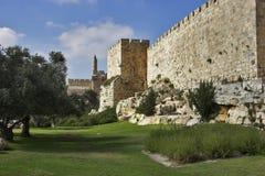 Em paredes de Jerusalem. Imagens de Stock Royalty Free