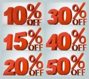 Em precentages da venda Imagem de Stock Royalty Free