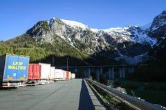 Em repouso parada estacionada caminhões Foto de Stock Royalty Free