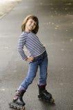 Em rollerskates Foto de Stock