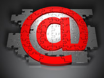 Em-símbolo Fotografia de Stock