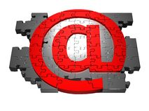 Em-símbolo Imagem de Stock