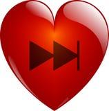 Em seguida. Coração Glassy. Imagens de Stock Royalty Free