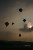 Em setembro de 2014, warstein, Alemanha, balões de ar quente no céu Imagem de Stock