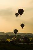 Em setembro de 2014, warstein, Alemanha, balões de ar quente no céu Fotografia de Stock Royalty Free