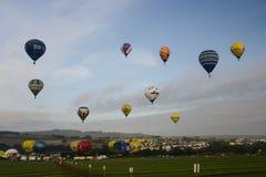Em setembro de 2014, warstein, Alemanha, balões de ar quente no céu Foto de Stock Royalty Free