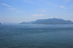 em Seto Inland Sea, Japão imagem de stock
