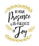 Em sua presença é a plenitude da alegria ilustração royalty free