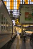 Em torno de Banguecoque a estação de trem ou Hua Lamphong Station são a estação de trem principal em Banguecoque, Tailândia Fotos de Stock Royalty Free