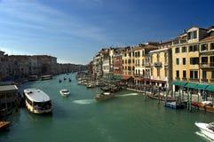Em torno do canal grande, Veneza Fotografia de Stock