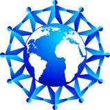 Em torno do logotipo dos povos ilustração do vetor