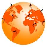 Em torno do mundo Imagens de Stock Royalty Free