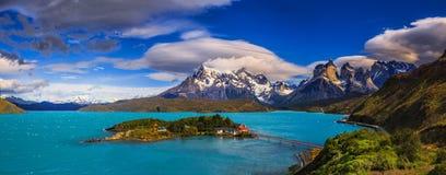 Em torno do Patagonia chileno foto de stock