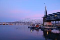 Em Tromso, Noruega imagens de stock