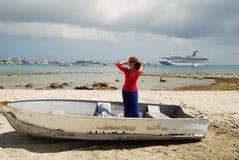 Em um barco Imagem de Stock Royalty Free