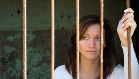 Em um cage-2 Imagens de Stock
