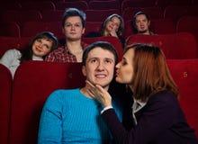 Em um cinema Foto de Stock