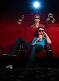 Em um cinema Fotografia de Stock