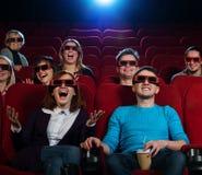 Em um cinema Imagem de Stock