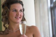 Em um dia do casamento feliz imagem de stock royalty free