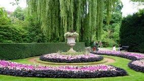 Em um jardim em Antuérpia Foto de Stock