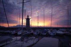Em um porto Foto de Stock Royalty Free