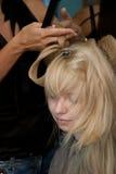 Em um salão de beleza de cabelo Imagens de Stock Royalty Free