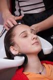 Em um salão de beleza de cabelo Foto de Stock Royalty Free