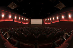 Em um salão do cinema imagem de stock