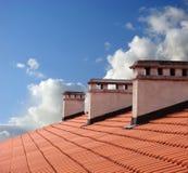 Em um telhado Fotografia de Stock Royalty Free