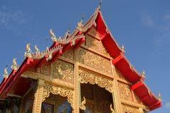 Em um templo de budistas Fotos de Stock