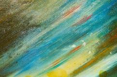Em uma água da lona do cartão manchas coloridas Fotografia de Stock
