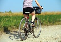 Em uma bicicleta Imagens de Stock