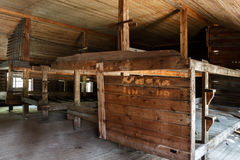 Em uma caserna para prisioneiros no GULAG do acampamento fotos de stock royalty free