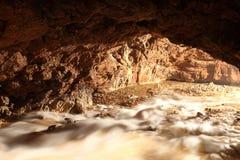 Em uma caverna Imagens de Stock
