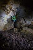Em uma caverna Fotografia de Stock Royalty Free