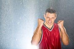 Praticar do jogador de basquetebol Foto de Stock Royalty Free