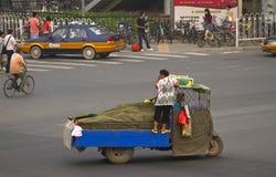 Em uma estrada transversaa de Beijing Fotos de Stock Royalty Free